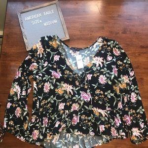 NWT - American Eagle blouse black - Medium